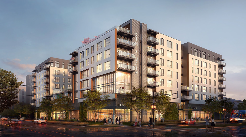 Officially beginning construction on June 15, 2020, the 6th and Main Apartments, will be coming to Salt Lake City, UT soon.