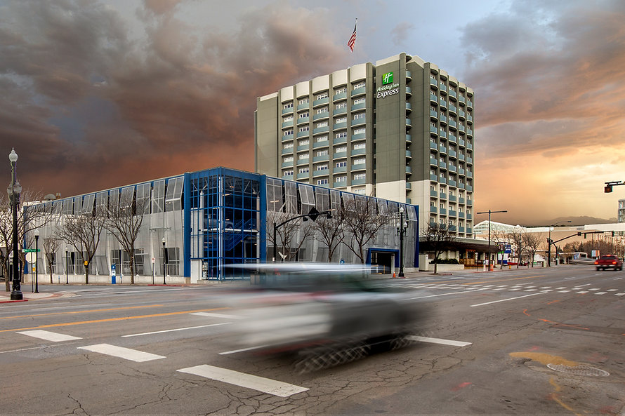 Zwick Construction has completed many hospitality projects throughout states like Utah, California, Nevada, and Arizona, including the Holiday Inn Parking Garage.