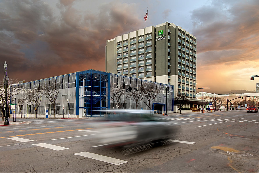The Holiday Inn Express Parking Structure is just one of many hospitality construction projects completed by Zwick Construction.