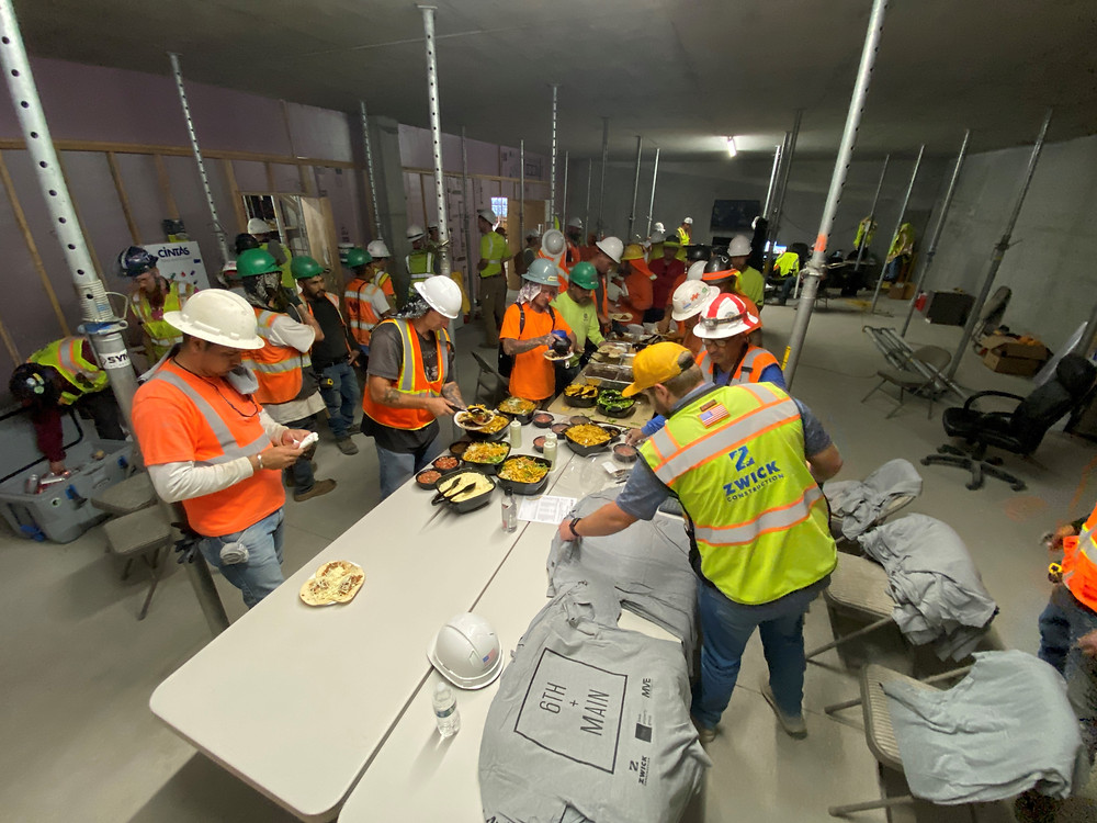 In June, two Salt Lake City project teams– The Stack and 6th + Main– hosted topping out parties, each celebrating their final concrete pours. This is a great milestone for both teams.
