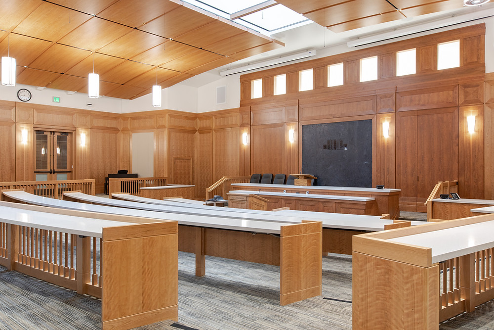 BYU hired Zwick Construction to complete a remodel of the old courtroom in the J. Reuben Clark Law Building.