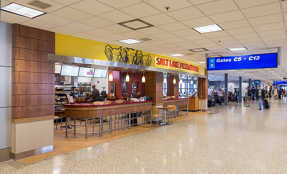 The Salt Lake City Airport Restaurants are just a couple of restaurant construction projects completed by Zwick Construction.