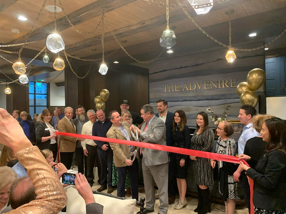 On February 12, 2020, the Advenire Hotel celebrated its grand opening, completed by Zwick Construction.