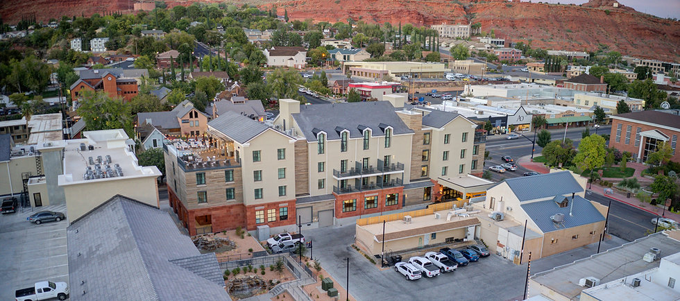 Zwick Construction has completed many hospitality projects throughout states like Utah, California, Nevada, and Arizona, including the Marriott Advenire Hotel.