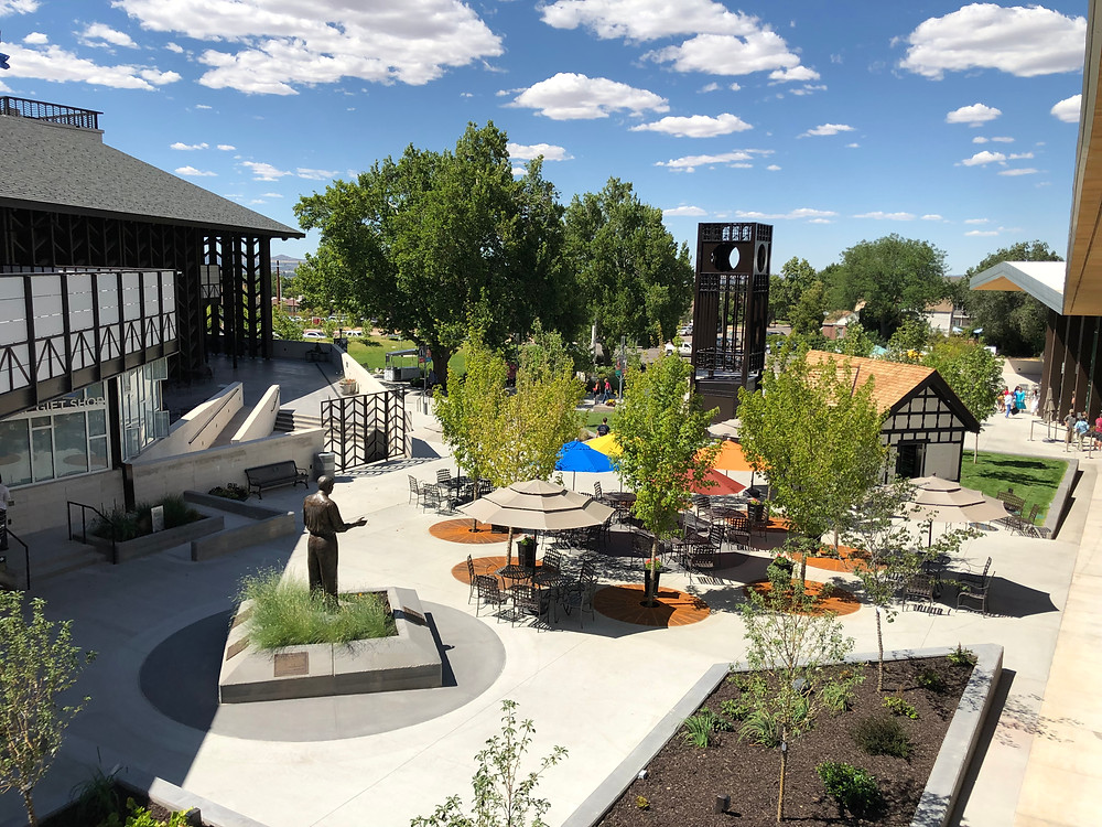 Every mid-summer, Southern Utah University hosts the Utah Shakespeare Festival in Cedar City, UT. This is a summer-long event that presents plays and musicals for regional and national audiences. In 2019, Zwick Construction worked with the Utah Shakespeare Festival team to provide some improvements to the center of the festival activities, the Zions Bank Courtyard. The centerpiece of the capital is the 35-foot clocktower.