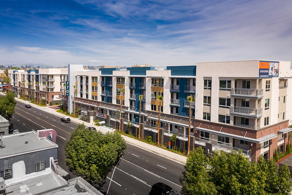 One year ago in April 2019, Zwick Construction turned over the 770 So. Harbor Apartments in Fullerton, CA.