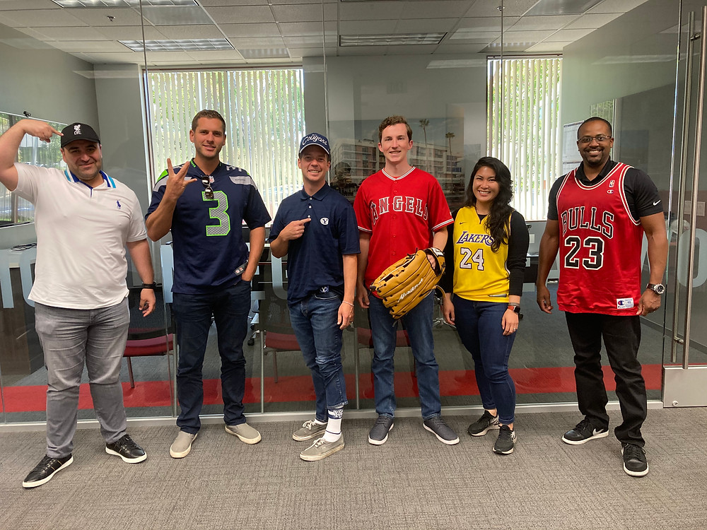 The Zwick Construction Irvine office wore their favorite sports apparel for Casual Friday.