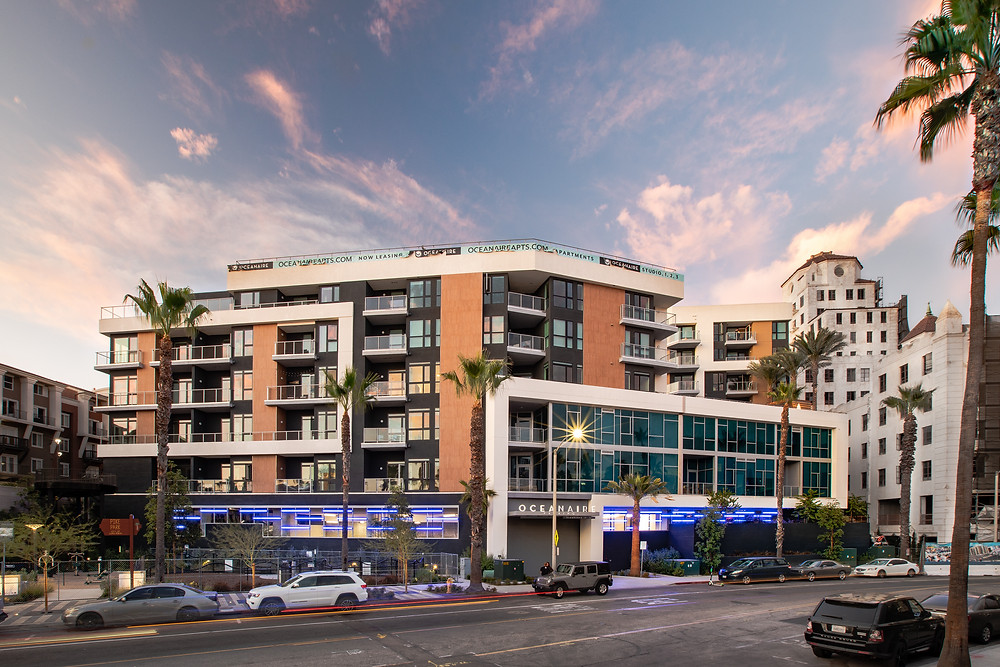 Long Beach, CA welcomed the luxurious new apartment complex, OceanAire, in 2019, completed by Zwick Construction.