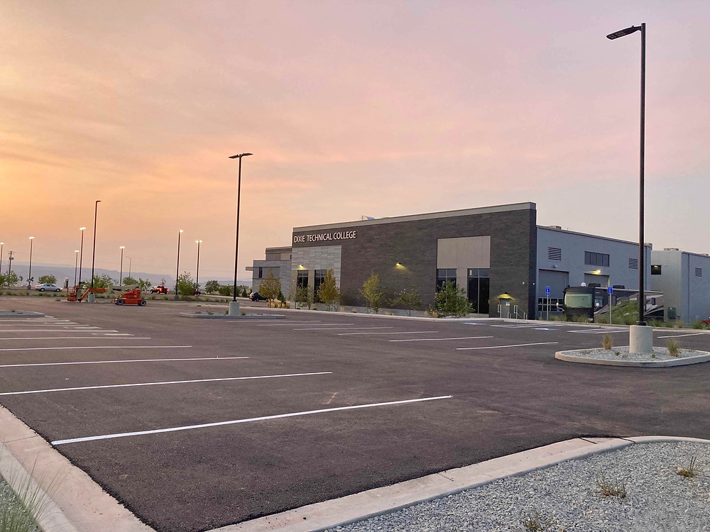 Zwick Construction completed a renovation of the parking lot at the Dixie Technical College.