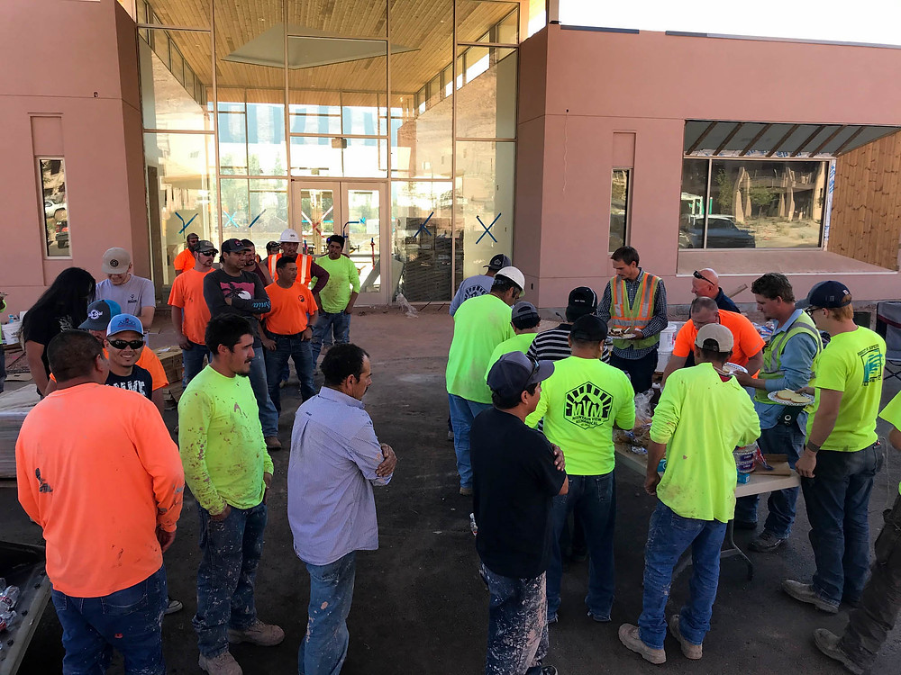 Zwick Construction provided an appreciation dinner for 60 individuals from nine subcontractor companies at Wyndham WorldMark Moab.
