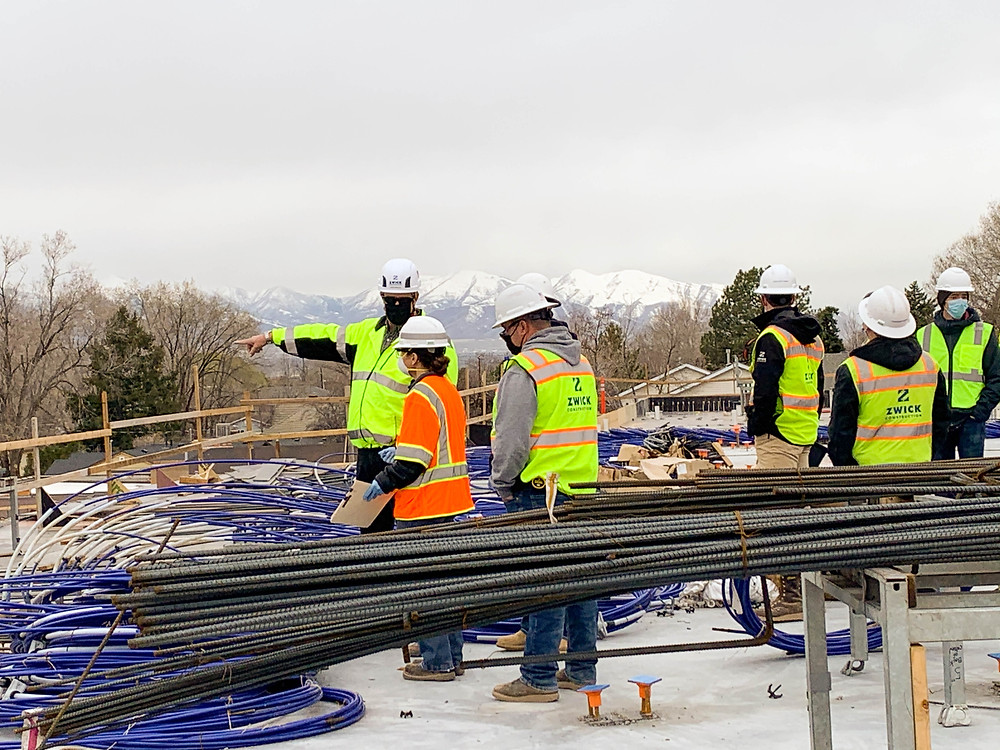 The Zwick Construction team working on the Stack Apartments in Salt Lake City, UT, invited Utah Occupational Safety and Health (UOSH) to visit their site and provide a consultation.