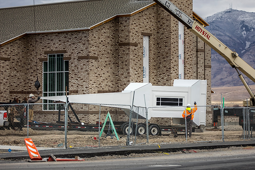 This is a building under construction. Zwick Construction provides the utmost care in all types of work in which they're involved.