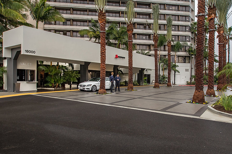 Zwick Construction has completed many hospitality construction projects throughout Utah and California, including the Marriott Irvine entrance.