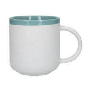 Barcelona Latte Mug Retro Blue