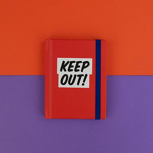 'Keep Out' Note Book