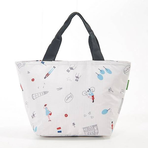 Eco Chic Cool Bag - White Paris Design
