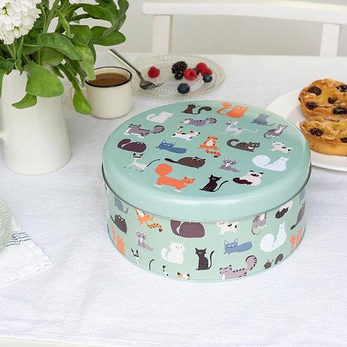 Nine Lives Cake Tin - Cats