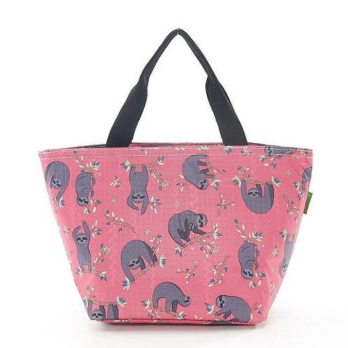Eco Chic Cool Bag - Pink Sloth