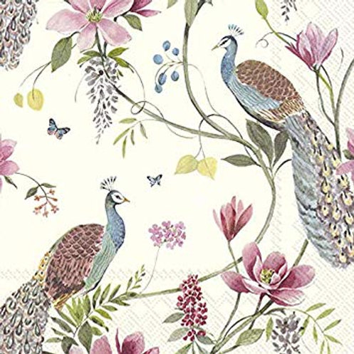 IHR Peacock Garden Paper Napkins