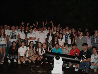 Observação do Céu e Debate no Colégio Estadual Ana Machado Dal Toé em Morro Grande.