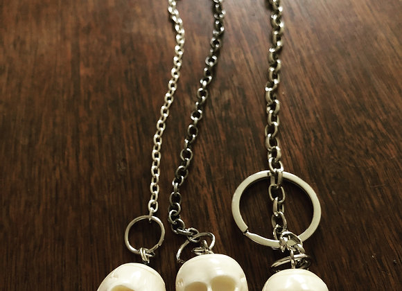Bone Skull Keychains