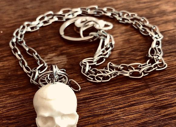 Bone Skull Keychain-Double Chain