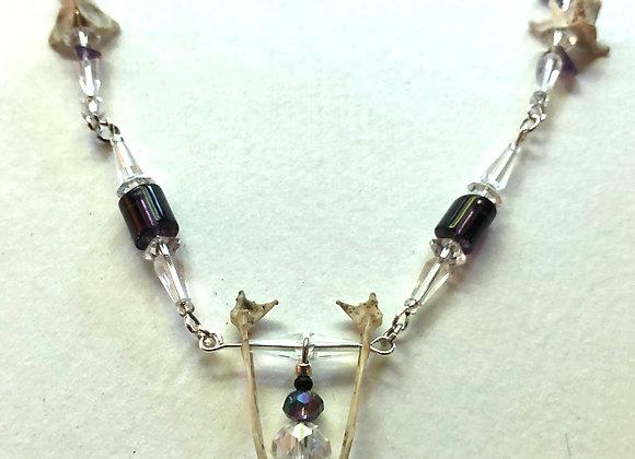 Bird Bone/Amethyst/Vintage Bead Necklace