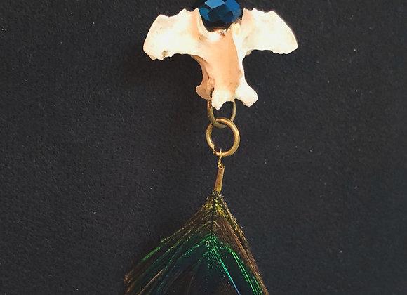 Peacock/Cormorant Choker Pendant