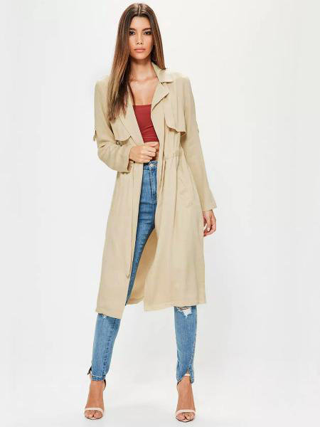 Beige casual Trench