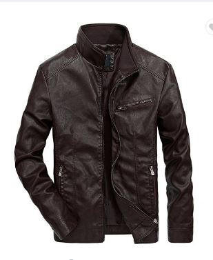 Dark Brown Leather Jacket_JK007