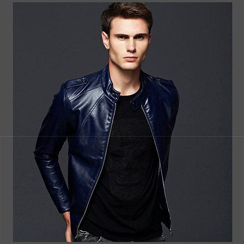 Blue Leather Jacket_JK014