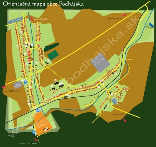 Orientační mapa obce