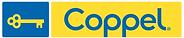 Logotipo de COppel, la forma de una llave antigual de color amarillo encerrado en un recuadro azul