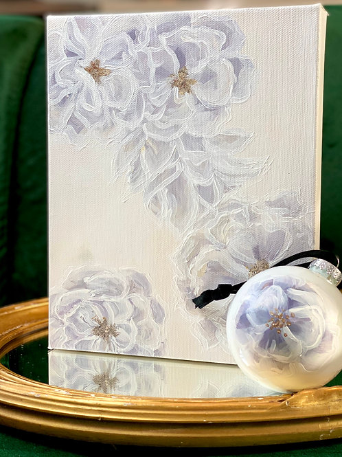ORNAMENT AND MINI FLORAL PAINTING SET