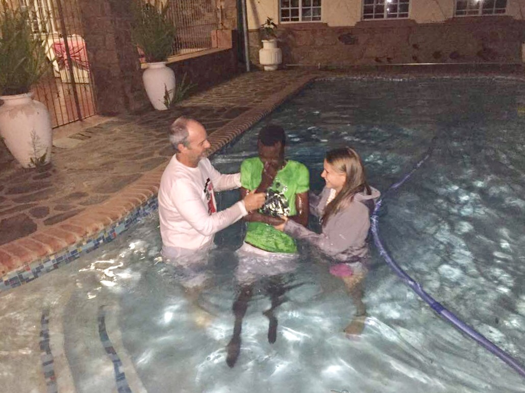 Baptism at the Baptist Pastors Pool