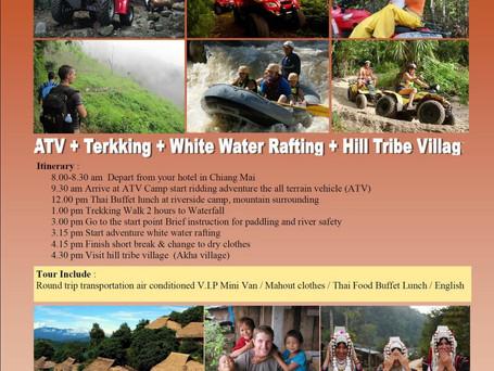 ATV, Trekking, White Water Rafting, Hill Tribe Village
