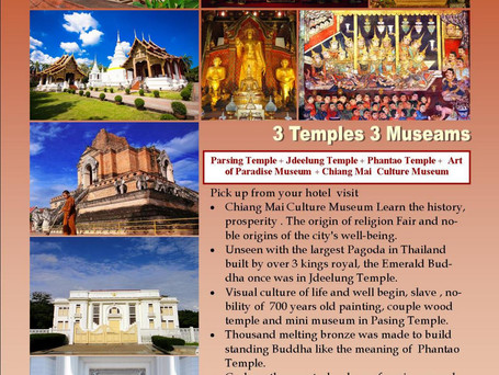 3 Temples, 3 Museums