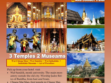 3 Temples, 2 Museums