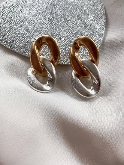 """Oorbellen """"gold-zilver"""""""