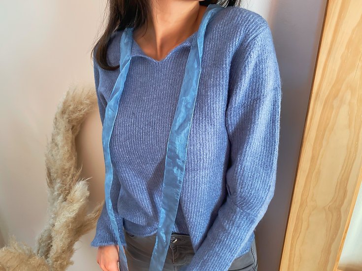 Sweater met tulle lint