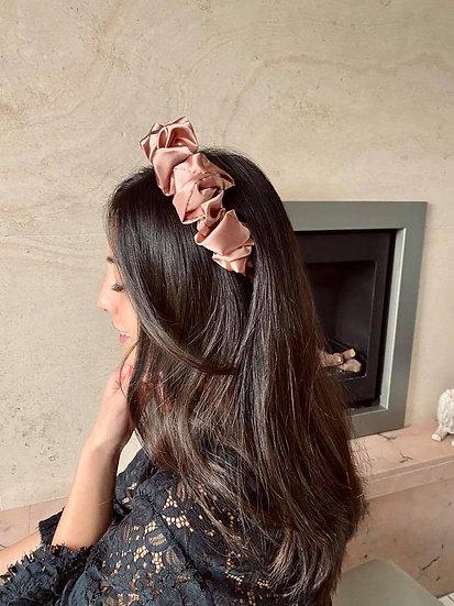 Pink scrunchy haarband