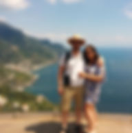 Atop Villa Rufolo in Ravello on the Amal