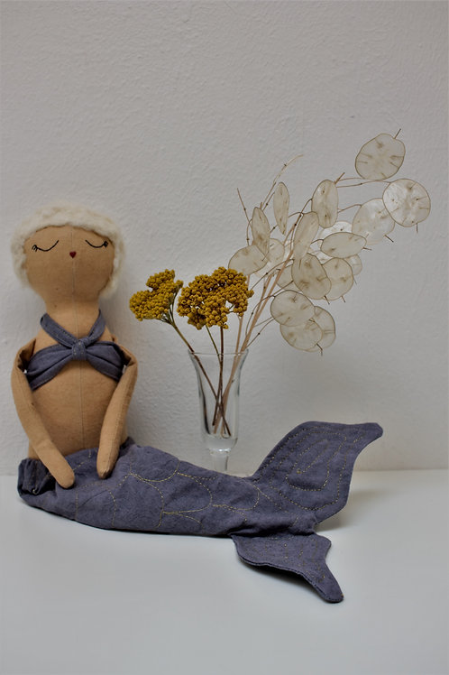 Natural Dye Mermaid Doll