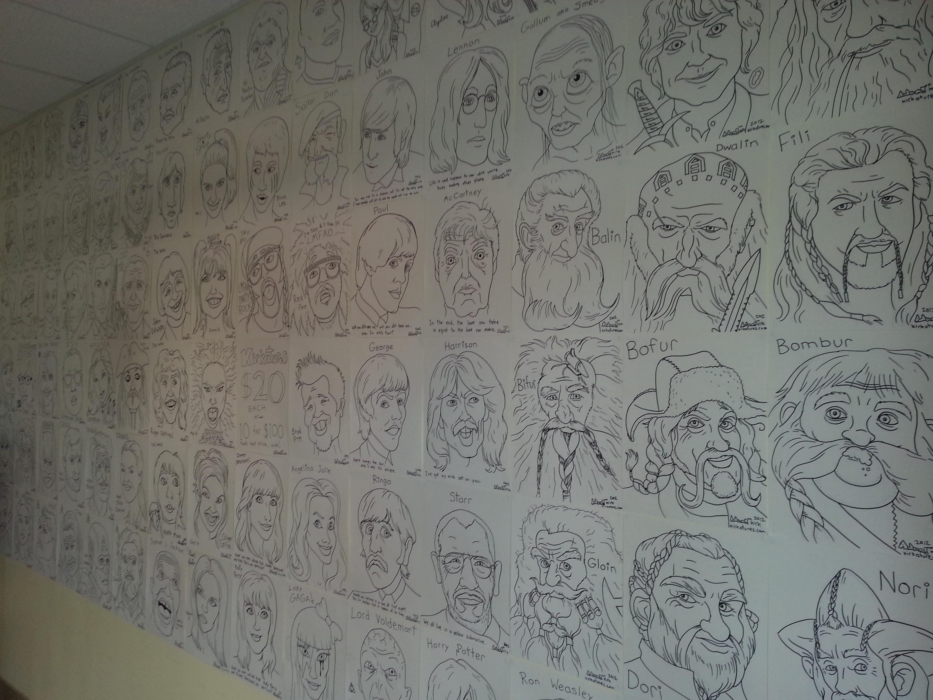 Adam Kirk caricatures caricature art