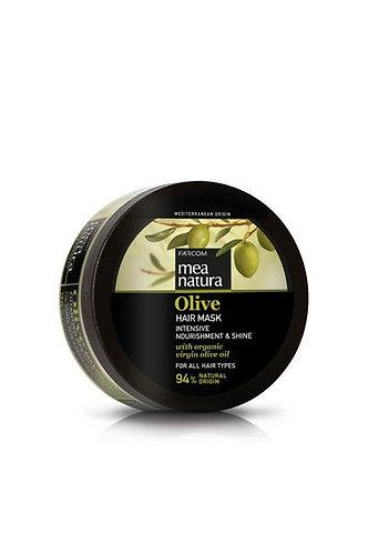 Mea Natura Hair Mask Intensive Nourishment & Shine,w/ Organic Olive Oil,250ml