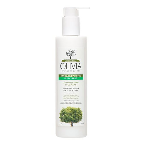 Olivia Hand & Body Lotion with Organic Greek Olive Oil,265ml