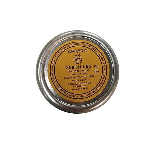 ApivitaSore Throat Pastilles with Thyme & Honey,45gr