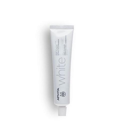 Apivita White Whitening Toothpaste with Mastic & Propolis,75ml