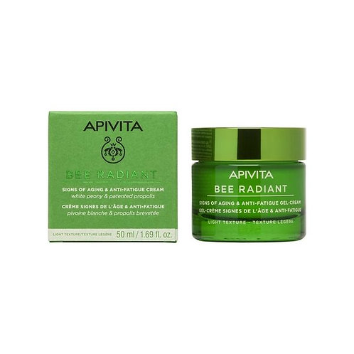 Apivita Bee Radiant Signs of Aging & Anti-Fatigue Gel-Cream,Light Texture,50ml