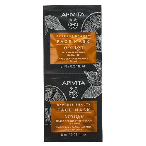 Apivita Express Beauty Radiance Face Mask with Orange,2x8ml